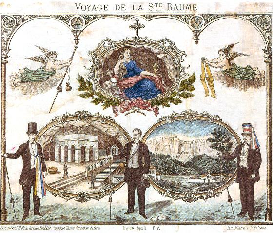 Journey from Sainte-Baume, lithograph, circa 1875