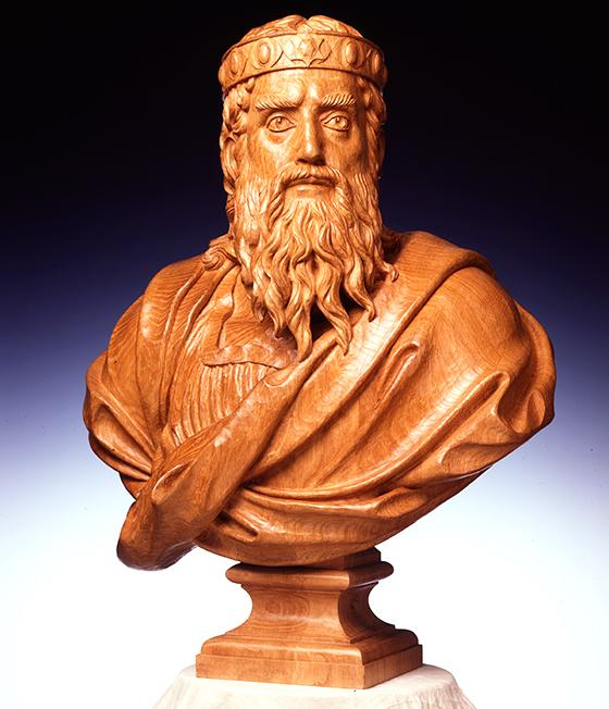 Bust of King Solomon, by Brabançon le Disciple des Arts, Companion Sculptor des Devoirs unis (1994)