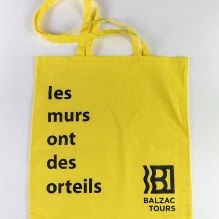 Totebag citation jaune
