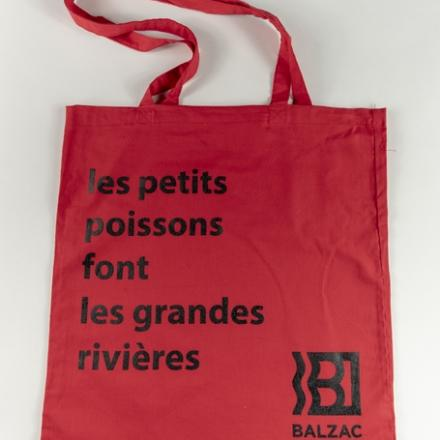 Totebag citation rouge